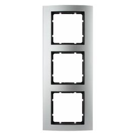 10133004 BERKER RAHMEN 3-FACH B3 ALU SENKRECHT/WAAGRECH Produktbild