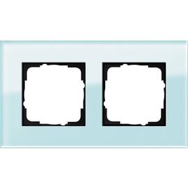 21218 GIRA RAHMEN 2-FACH ESPRIT Glas mint Produktbild