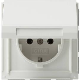 45466 GIRA SCHUKO-STECKDOSE M. KLAPPD. FR UP TX44 REINWEISS Produktbild