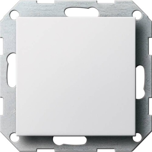 26803 GIRA BLINDVERSCHLUSS SYSTEM 55 REINWEISS GLÄNZEND Produktbild Front View L
