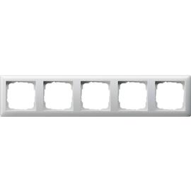 21503 GIRA RAHMEN 5-FACH STANDARD 55 REINWEISS GLÄNZEND Produktbild