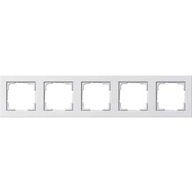 21529 GIRA RAHMEN 5-FACH E2 REINWEISS GLÄNZEND BRUCHSICHER Produktbild