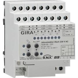 103900 GIRA KNX JALOUSIEAKTOR 4-FACH 230V AC REG 4TE M. HB Produktbild