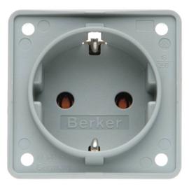 947782506 BERKER SCHUKOSTECKDOSE INTEGRO GRAU MATT Produktbild
