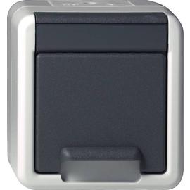 44030 GIRA SCHUKO-STECKDOSE WG AUFPUTZ GRAU Produktbild