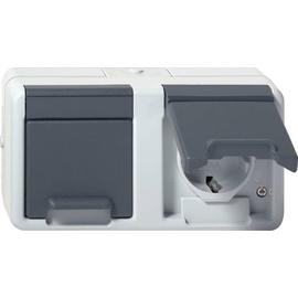 78130 GIRA Schuko-Steckdose 2-fach waagrecht  FR AP Produktbild