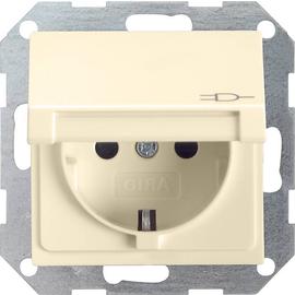 45401 GIRA SCHUKO-STECKDOSE KD SYSTEM 55 CREMEWEISS Produktbild