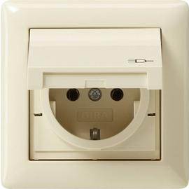 115701 GIRA SCHUKO-STECKDOSE KD RAHMEN 1FACH IP44 STANDARD 55 CREMEWEISS Produktbild