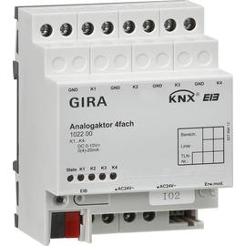 102200 GIRA ANALOGAKTOR 4FACH KNX/EIB REG Produktbild