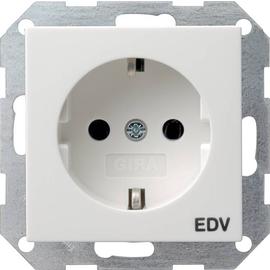 45803 GIRA SCHUKO-STECKDOSE EDV SYSTEM 55 REINWEISS Produktbild