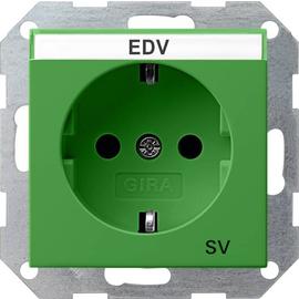 47202 GIRA SCHUKO-STECKDOSE BSF SV SYSTEM 55 GRÜN Produktbild