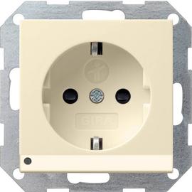117001 GIRA SCHUKO-STECKDOSE KS  M. LED LICHT SYSTEM 55 CREMEWEISS GLÄNZEND Produktbild