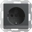 117028 GIRA SCHUKO-STECKDOSE KS  M. LED LICHT SYSTEM 55 ANTHRAZIT Produktbild
