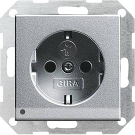 117026 GIRA SCHUKO-STECKDOSE KS  M. LED LICHT SYSTEM 55 ALU Produktbild