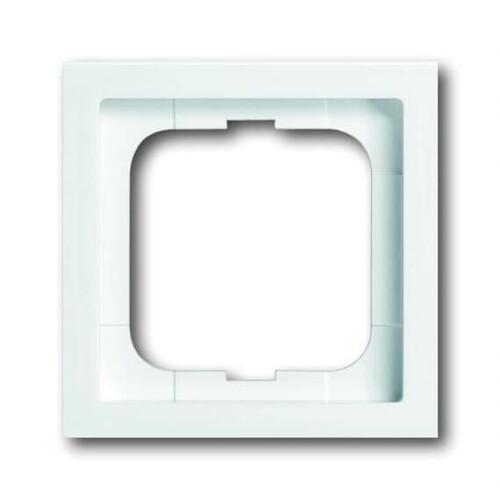 1721-184K Busch&Jäger 1-Fach Rahmen Future Linear Studioweiß Produktbild Front View L
