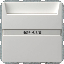 14003 GIRA HOTEL-CARD-TASTER BSF SYSTEM 55 REINWEISS Produktbild