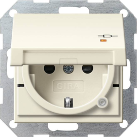 276301 GIRA SCHUKO-STECKDOSE KS KD KONTROLL SYSTEM 55 CREMEWEISS Produktbild