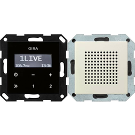 228001 GIRA UP RADIO RDS SYSTEM 55 CREMEWEISS GLÄNZEND Produktbild