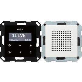 228027 GIRA UP RADIO RDS SYSTEM 55 REINWEISS SEIDENMATT Produktbild