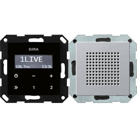 228026 GIRA UP RADIO RDS SYSTEM 55 ALU Produktbild
