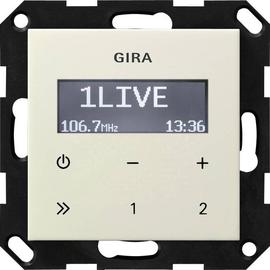 228401 GIRA UP RADIO RDS SYSTEM 55 CREME WEISS GLÄNZEND OHNE LAUTSPRECHER Produktbild