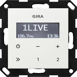 228403 GIRA UP RADIO RDS SYSTEM 55 REIN- WEISS GLÄNZEND OHNE LAUTSPRECHER Produktbild