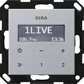 228426 GIRA UP RADIO RDS SYSTEM 55 ALU OHNE LAUTSPRECHER Produktbild