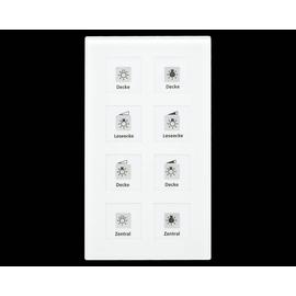 BE-GT08W.01 MDT Glastaster 8-Fach Plus weiss 8-Sensorflächen u. LED-Anz. Produktbild