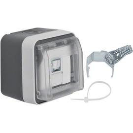 14093505 BERKER W.1 UAE-Steckdose 8-pol. geschirmt, grau/lichtgrau matt, FR AP Produktbild