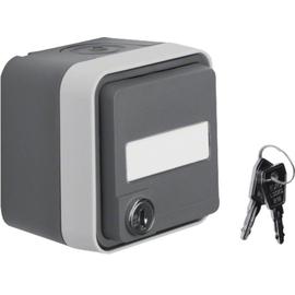 47393505 BERKER W.1 FR AP SSD m. Schloß+ unglei. Schließung, grau/lichtgrau matt Produktbild
