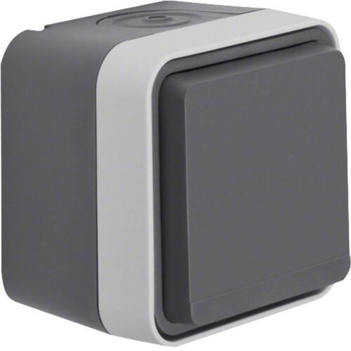 47403515 BERKER W.1 FR AP SSD grau/lichtgrau, matt Produktbild Front View L