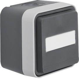 47413515 BERKER W.1 FR AP SSD mit Beschriftungsfeld, grau/lichtgrau matt Produktbild