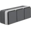 47733515 BERKER W.1 FR AP SSD 3fach waagrecht, grau/lichtgrau Produktbild