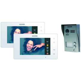 1402 FERMAX COLORVideo WAY KIT Monitor7 Einfamilienhaus+Türstation 2 Klinglta. Produktbild