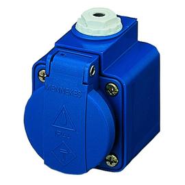 10082 Mennekes Schuko-Wandsteckdose Ap blau (ersetzt 11051) Produktbild