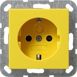 275902 Gira Schuko Steckdose m. SHUTTER gelb Produktbild
