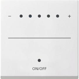 226003 GIRA Touch-Dimmaufsatz System 55 reinweiss glänzend Produktbild
