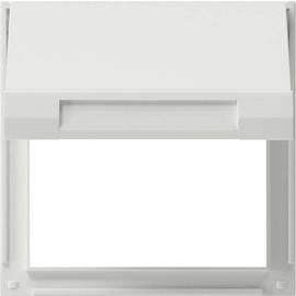 065466 GIRA Zwischenplatte mit Klappdeckel TX 44 reinweiss Produktbild