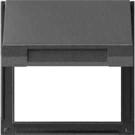 065467 GIRA Adapterrahmen Klappdeckel TX44 antrazit WG UP Produktbild