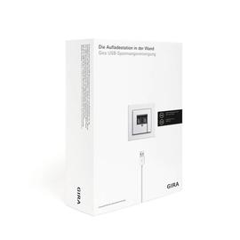 2401000 Gira Verkaufspaket Spannungs- versorgung 2 Fach Reinweiss glänzend Produktbild
