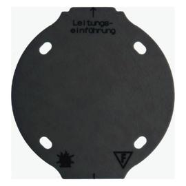 133111 BERKER Selbstverl. Bodenplatte 1-Fach schwarz Produktbild