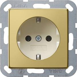 0188614 Gira Schuko-Steckdose System 55 Messing/Cremeweiß Produktbild