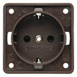 0941852501 Berker Integro Schuko- Steckdose Braun Matt Produktbild