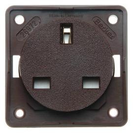 0962622501 BERKER Schuko-Steckdose British Standard Integro braun matt Produktbild