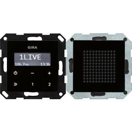 228005 Gira UP Radio schwarzglasoptik mit Lautsprecher Produktbild