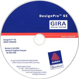 142300 GIRA Beschriftungssoftware DesignPro Produktbild