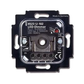 6512-0-0334 Busch&Jäger 6523U-102 LED Drehdimmer2-100VA Druckfolgewechselsch. Produktbild