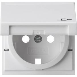 092203 Gira Zentralscheibe mit Klappdeck reinweiß glänzend für 045403 Produktbild