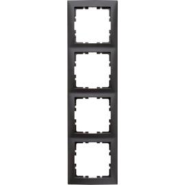 10149949 Berker Rahmen 4-Fach S1 anthrazit matt Produktbild