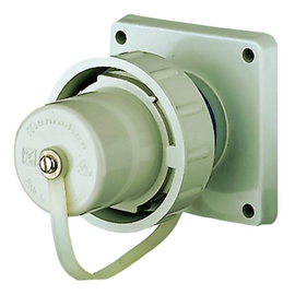 AM 10852 Mennekes Schuko-Anbaugeräte- stecker blau 16A 2p+E 230V IP68 Produktbild